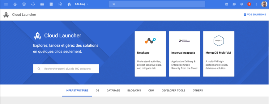 Cloud Launcher - Google Cloud Platform