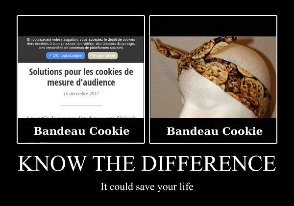 Bandeau Cookie - learn the difference